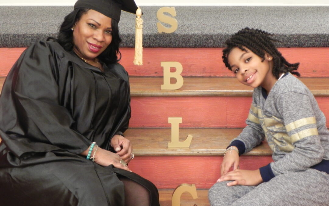 Learner and daugter at SBLC graduation